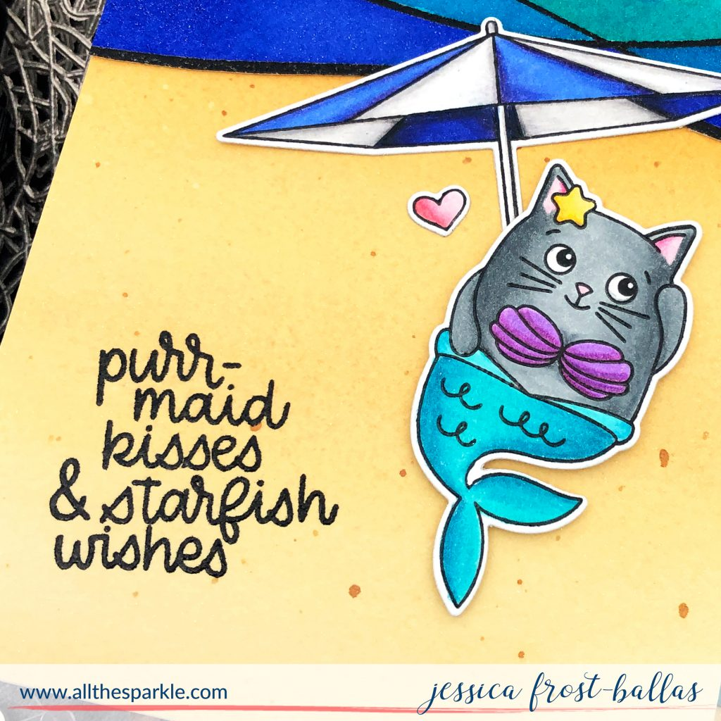 Purrmaid Kisses by Jessica Frost-Ballas for Simon Says Stamp