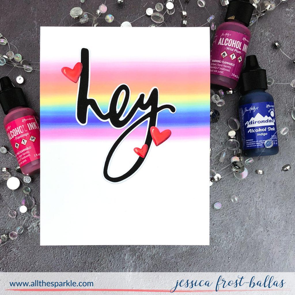 Rainbow Hey by Jessica Frost-Ballas for Simon Says Stamp