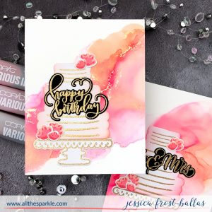 Alcohol Ink Backgrounds by Jessica Frost-Ballas for Gina K Designs