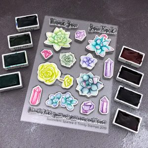Succulent Sparkle by Jessica Frost-Ballas for Trinity Stamps