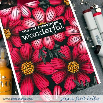 You Are Wonderful by Jessica Frost-Ballas for Simon Says Stamp