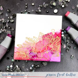 Alcohol Ink Coaster by Jessica Frost-Ballas for Tonic Studios