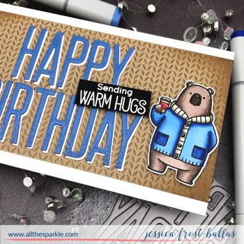 Happy Birthday by Jessica Frost-Ballas for MFT Stamps