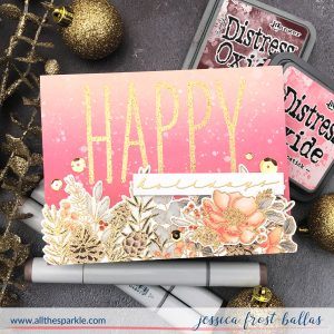 Happy Holidays by Jessica Frost-Ballas for Mama Elephant