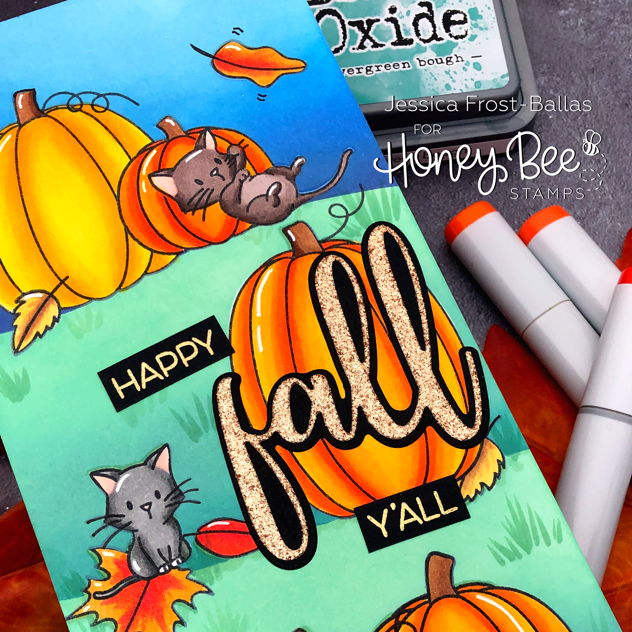 Happy Fall Y'All by Jessica Frost-Ballas for Honey Bee Stamps