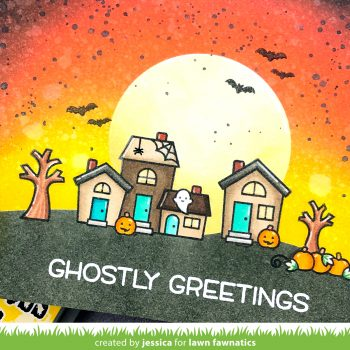Ghostly Greetings by Jessica Frost-Ballas for Lawn Fawnatics