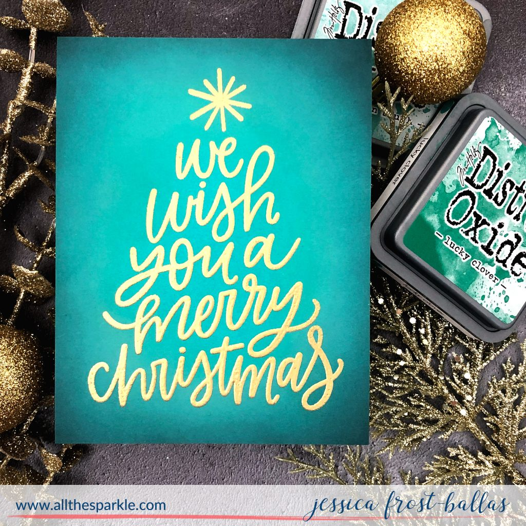 We Wish You a Merry Christmas by Jessica Frost-Ballas for MFT Stamps