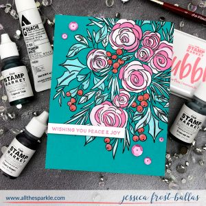 Wishing You Peace and Joy by Jessica Frost-Ballas for The Stamp Market