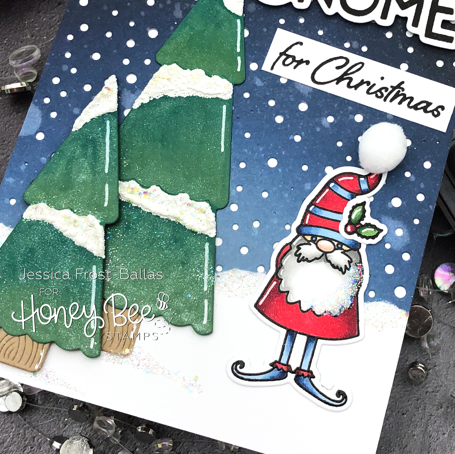 I'll be Gnome for Christmas by Jessica Frost-Ballas for Honeybee Stamps