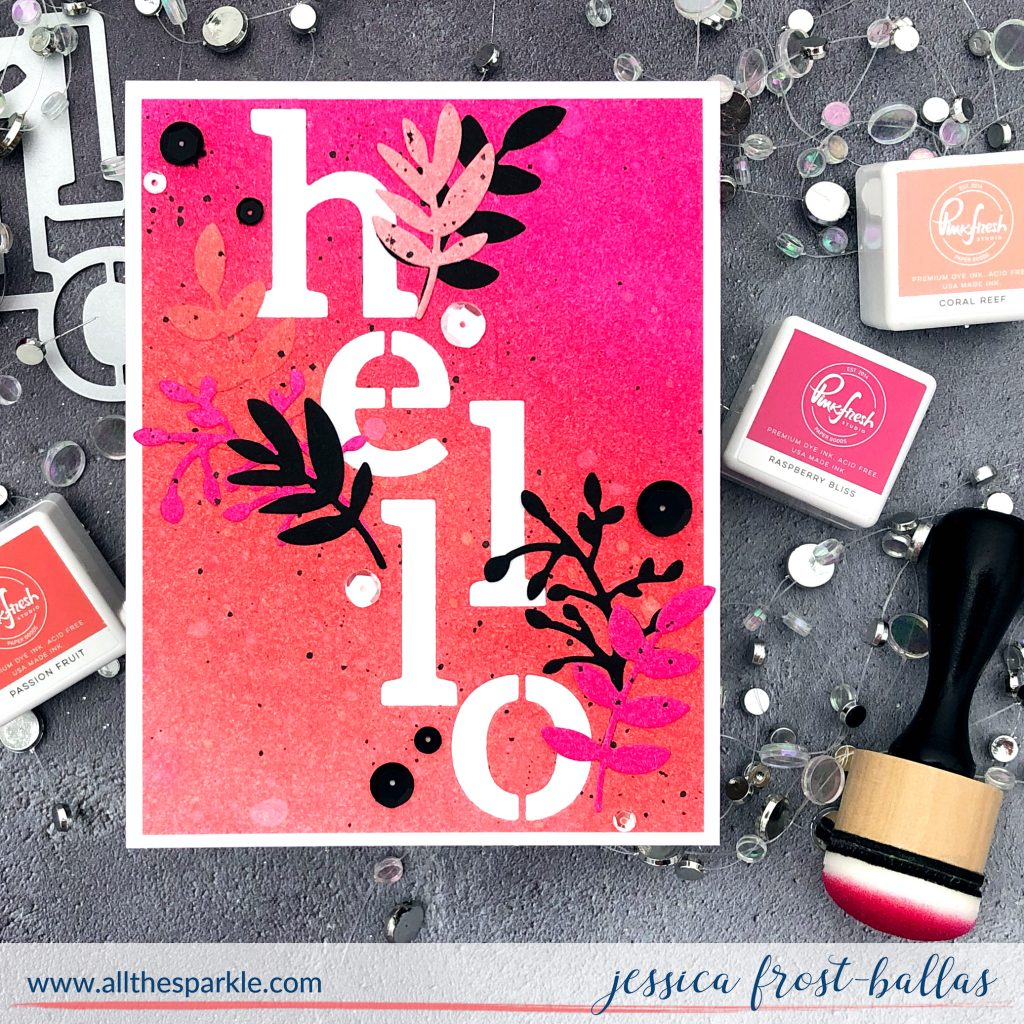 Hello by Jessica Frost-Ballas for Pinkfresh Studio