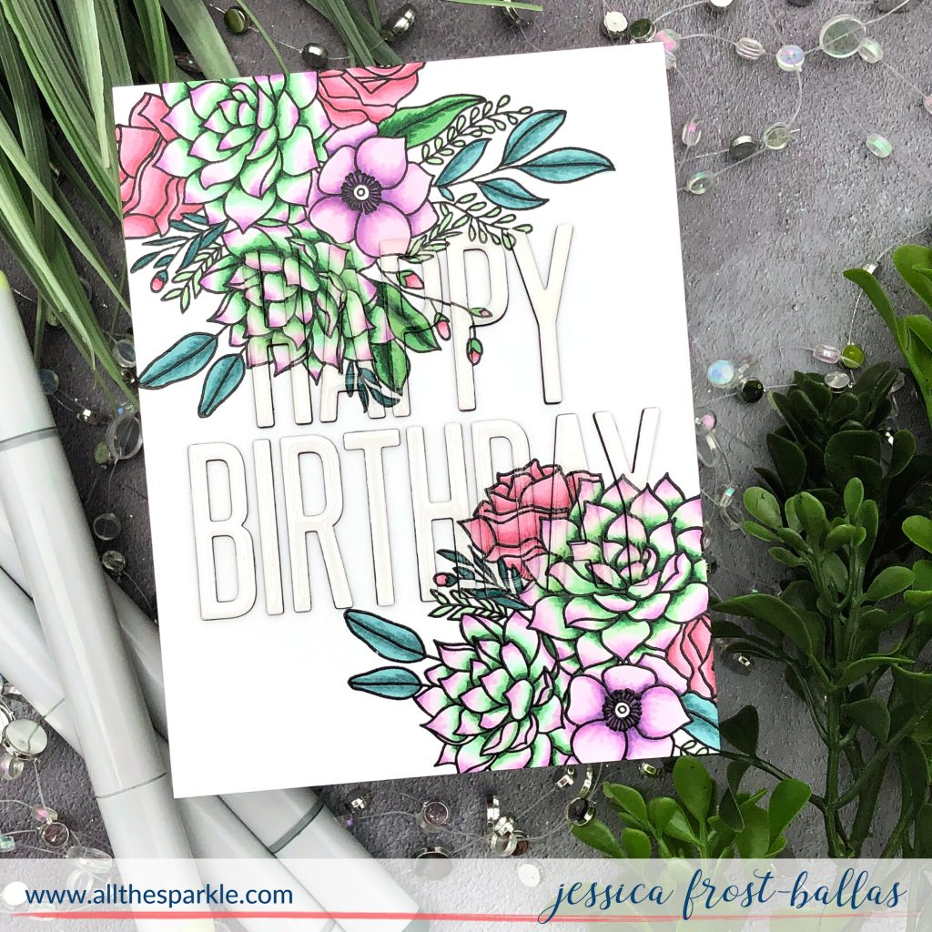 Fantasy Florals by Jessica Frost-Ballas for MFT Stamps