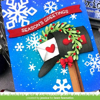 Season's Greetings by Jessica Frost-Ballas for Lawn Fawnatics