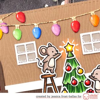 Merry Mice by Jessica Frost-Ballas for Chibitronics and Lawn Fawn