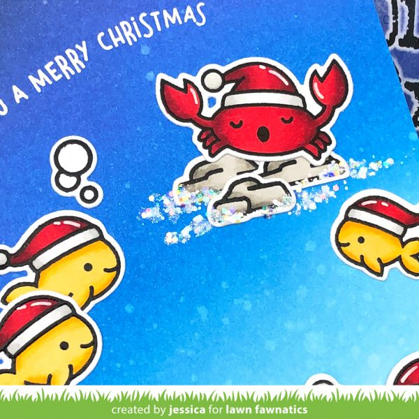 Christmas Fishes by Jessica Frost-Ballas for Lawn Fawnatics