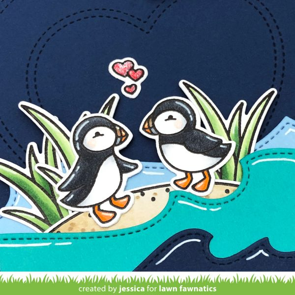 Stud Puffin by Jessica Frost-Ballas for Lawn Fawnatics