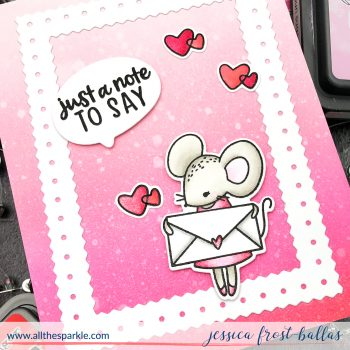 Sending Love and Secret Admirers by Jessica Frost-Ballas for Waffle Flower