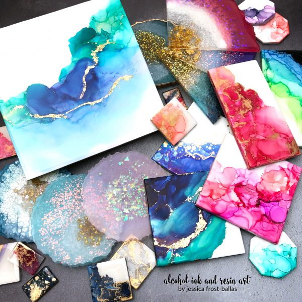 Alcohol Ink and Resin Art by Jessica Frost-Ballas