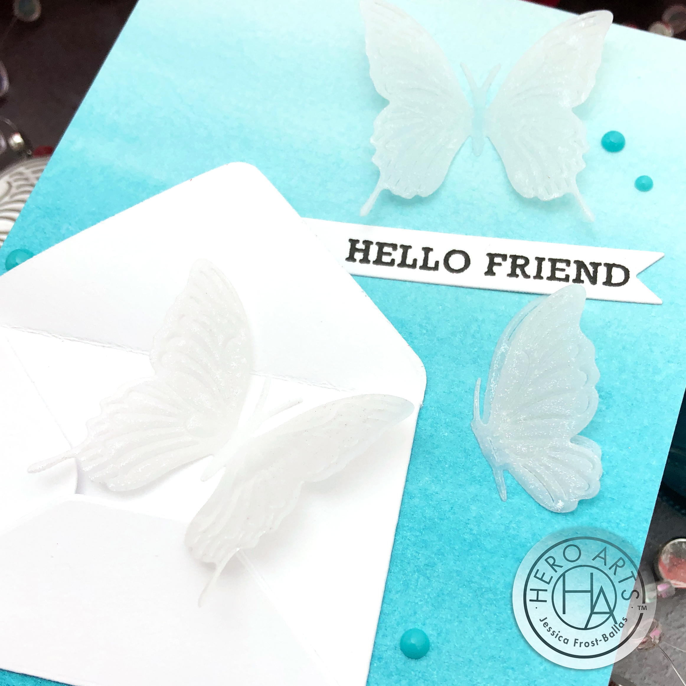 Hello Friend by Jessica Frost-Ballas for Hero Arts - January 2020 My Monthly Hero Kit