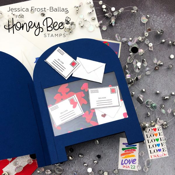 Sending Love by Jessica Frost-Ballas for Honey Bee Stamps