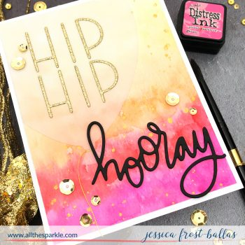 Hip Hip Hooray by Jessica Frost-Ballas for MFT Stamps