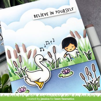 Swan Soiree by Jessica Frost-Ballas for Lawn Fawnatics