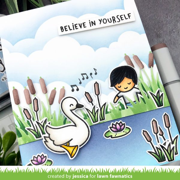 Swan Soiree by Jessica Frost-Ballas for Lawn Fawnatics