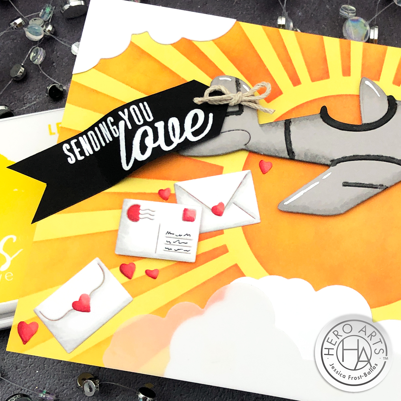 Sending You Love by Jessica Frost-Ballas for Hero Arts