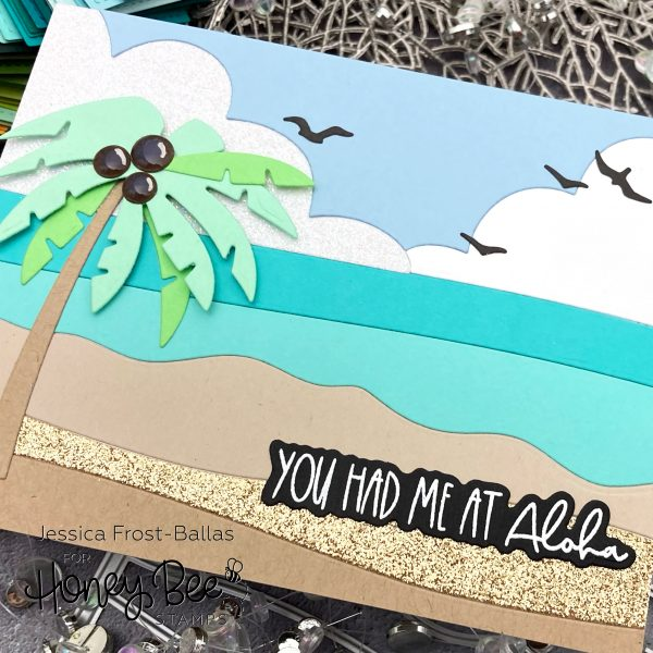Beach Scene Coverplate Die by Jessica Frost-Ballas for Honey Bee Stamps