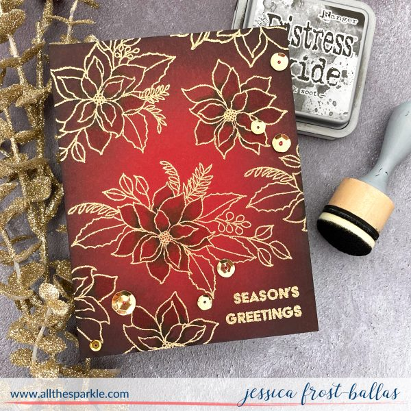 Poinsettia Season's Greetings by Jessica Frost-Ballas for Waffle Flower