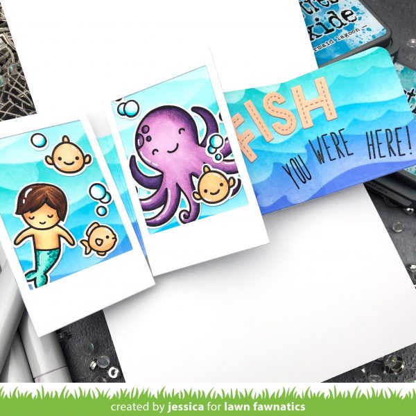 Fish You Were Here by Jessica Frost-Ballas for Lawn Fawnatics