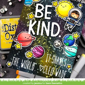 Be Kind by Jessica Frost-Ballas for Lawn Fawnatics