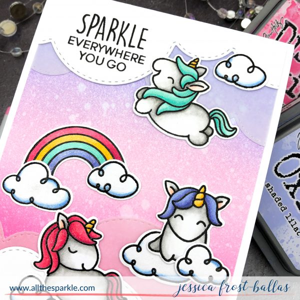 Fluffy Puffy Unicorns by Jessica Frost-Ballas for Heffy Doodle