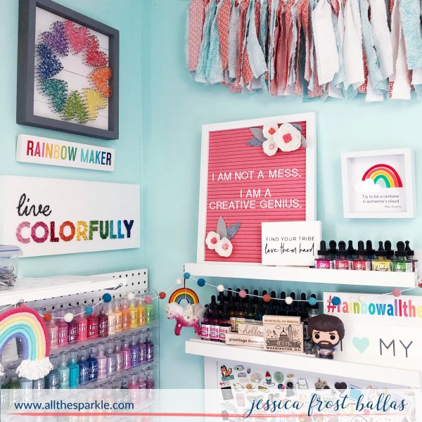 All the Sparkle Craft Room Tour by Jessica Frost-Ballas