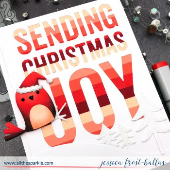 Sending Christmas Joy by Jessica Frost-Ballas for MFT Stamps