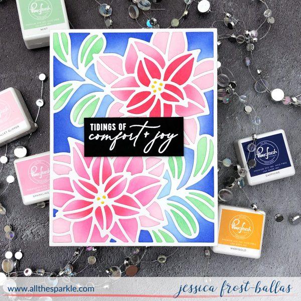 Ornate Poinsettia by Jessica Frost-Ballas for Pinkfresh Studio