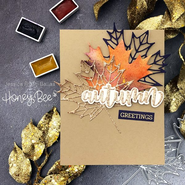 Lovely Layers Maple Leaf by Jessica Frost-Ballas for Honey Bee Stamps