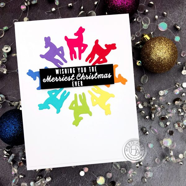 Rainbow Christmas Cards with Cardstock by Jessica Frost-Ballas for Hero Arts