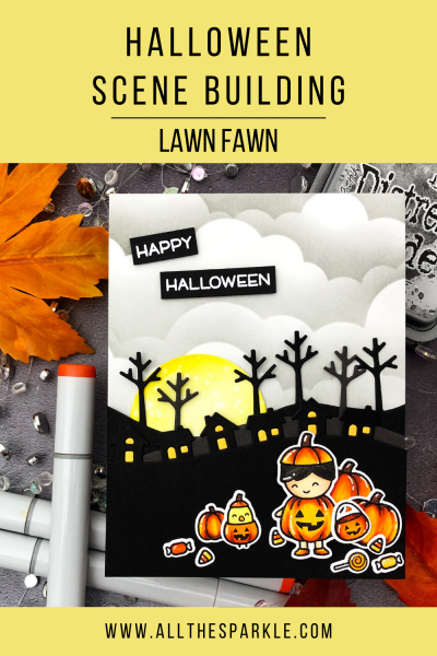 Halloween Scene Building with Lawn Fawn by Jessica Frost-Ballas for Lawn Fawnatics