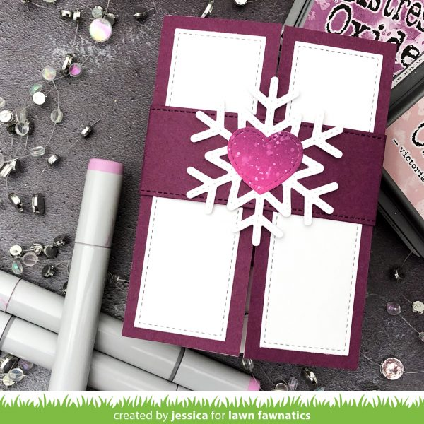 Ink Blended Shutter Card by Jessica Frost-Ballas for Lawn Fawn