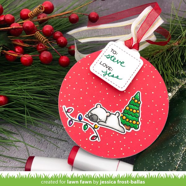 25 Days of Christmas Tags by Jessica Frost-Ballas for Lawn Fawn