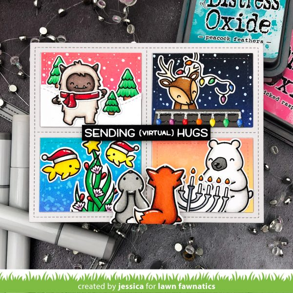 Holiday Critters by Jessica Frost-Ballas for Lawn Fawnatics