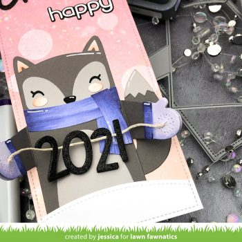 Cheers to a Happy 2021 by Jessica Frost-Ballas for Lawn Fawnatics