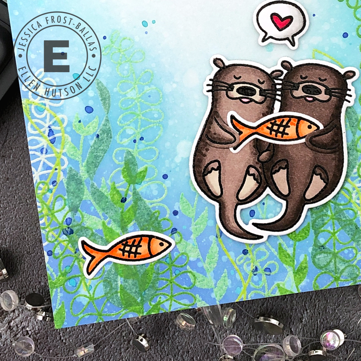 Embossing Two Ways with Distress Oxide Inks by Jessica Frost-Ballas for Ellen Hutson