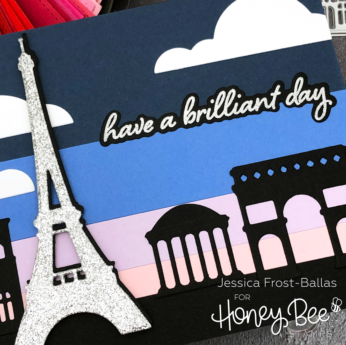 Creating Backgrounds with Paper Scraps by Jessica Frost-Ballas for Honey Bee Stamps