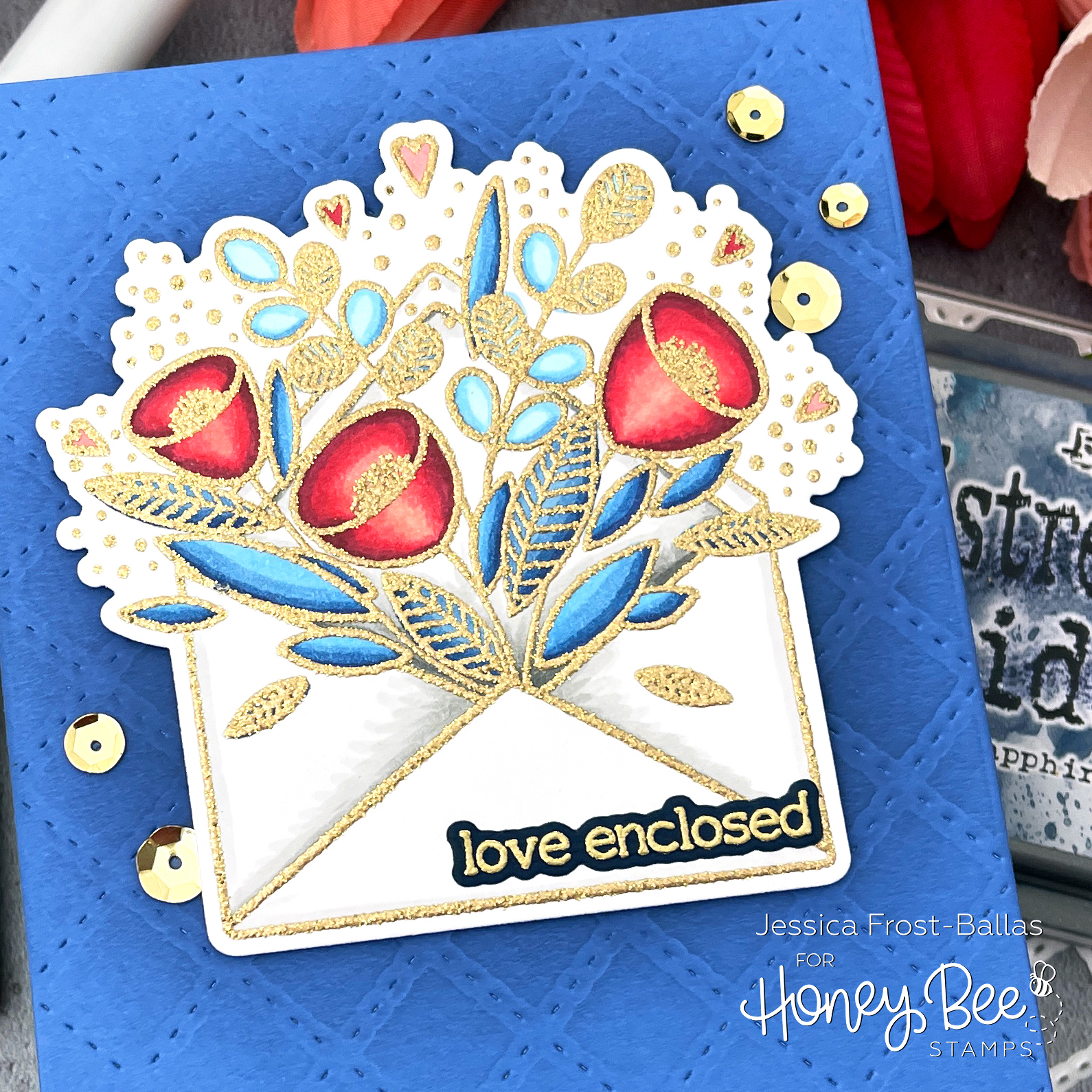 Pretty Postage by Jessica Frost-Ballas for Honey Bee Stamps