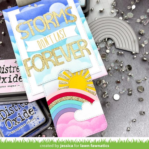 Storms Don't Last Forever by Jessica Frost-Ballas for Lawn Fawnatics