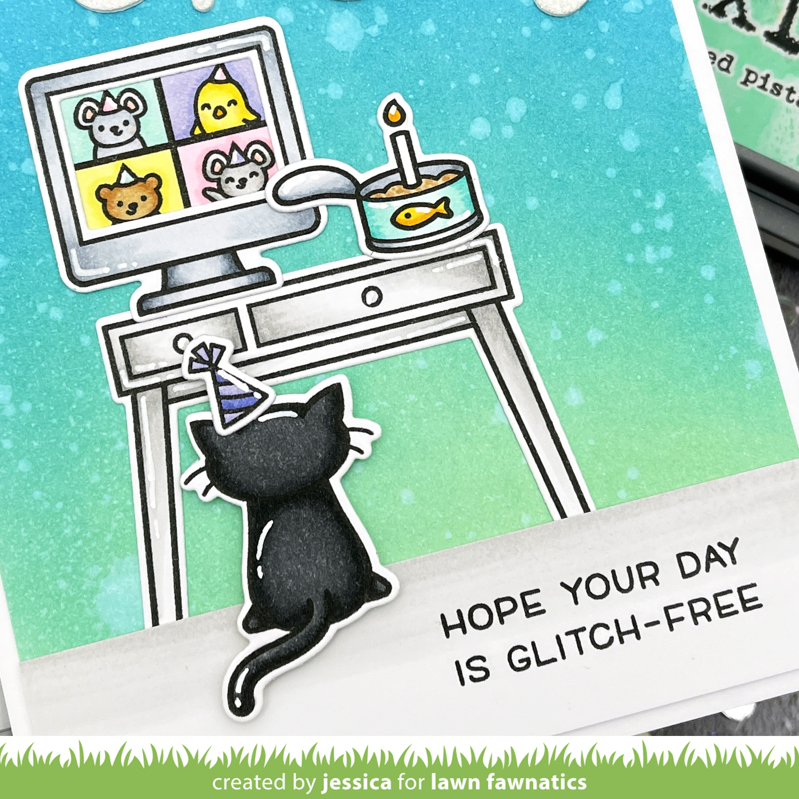 Virtual Friends by Jessica Frost-Ballas for Lawn Fawn
