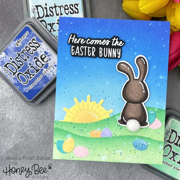 Hoppy Easter by Jessica Frost-Ballas for Honey Bee Stamps