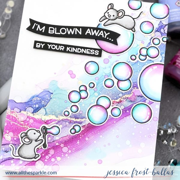 The BEST Tool for Alcohol Ink Backgrounds by Jessica Frost-Ballas for Lawn Fawn