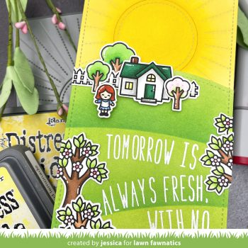 Anne of Green Gables inspired card by Jessica Frost-Ballas for Lawn Fawnatics